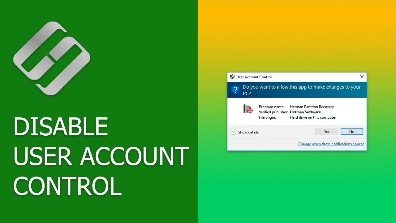 How to Disable User Account Control (UAC) in Windows 10 🎛️🚫👪