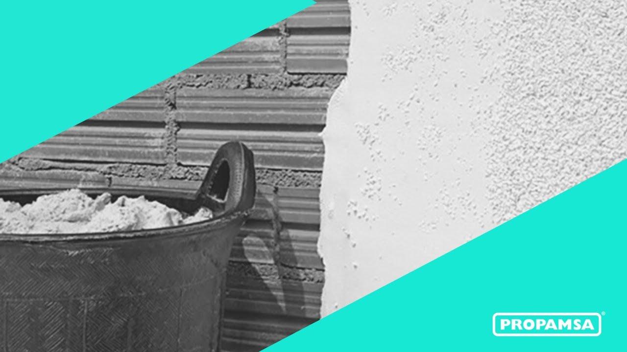 20130125 propamsa apliaci n revat raspado monocapa youtube - Mortero monocapa colores ...