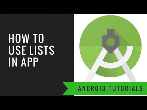 Android App Tutorial 13 : How to Use List In Our App