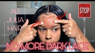 NO MORE DARK LACE | Quick Wig Hack | ALI JULIA HAIR | Back 2 School Giveaway !