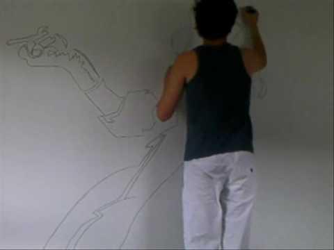 dessin mur - youtube - Comment Dessiner Sur Un Mur De Chambre