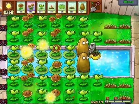 Gameplay-Plants Vs Zombies Level 3-9