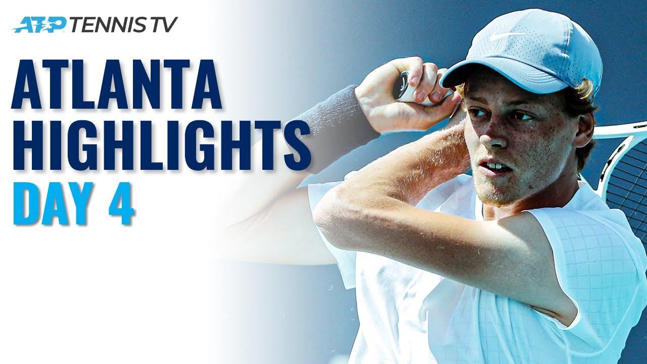 Sinner Makes Atlanta Debut; Kyrgios, Sock in Action | Atlanta Open Day 4 Highlights