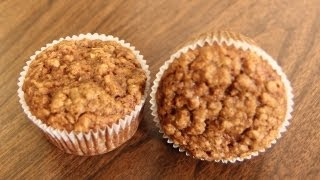 Vegan Apple Muffins Recipe - Vegan Oatmeal Muffin Recipe