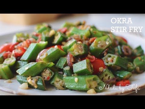 HOW TO STIR FRY OKRA PERFECTLY ✔️ A TASTY AND HEALTHY VEGETARIAN DISH