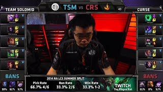 TSM vs Curse | S4 NA LCS Summer split 2014 SuperWeek 1 Day 2 | TSM vs CRS G1