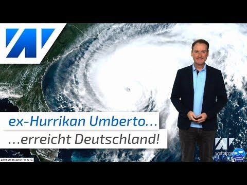 ex Hurrikan erreicht heute Deutschland!