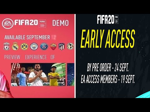 FIFA 20 DEMO DATE LEAKED + EARLY ACCESS INFO FOR FIFA 20