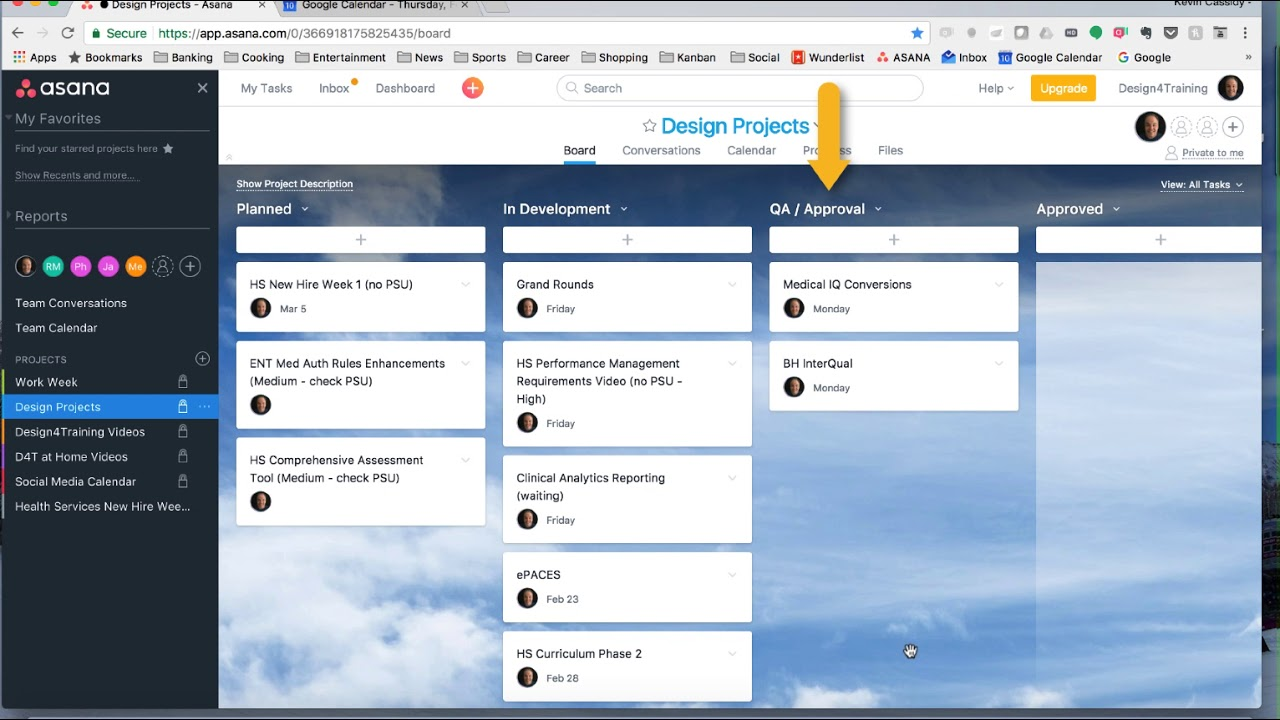 project management with asana and google calendar youtube