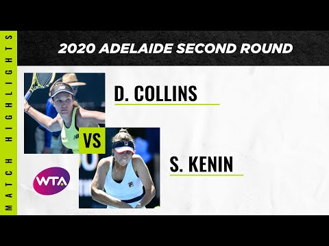 Danielle Collins Vs. Sofia Kenin | 2020 Adelaide International Second Round | WTA Highlights