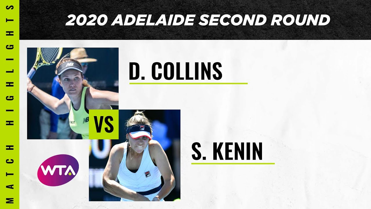 Danielle Collins vs. Sofia Kenin | 2020 Adelaide International Second Round | WTA Highlights