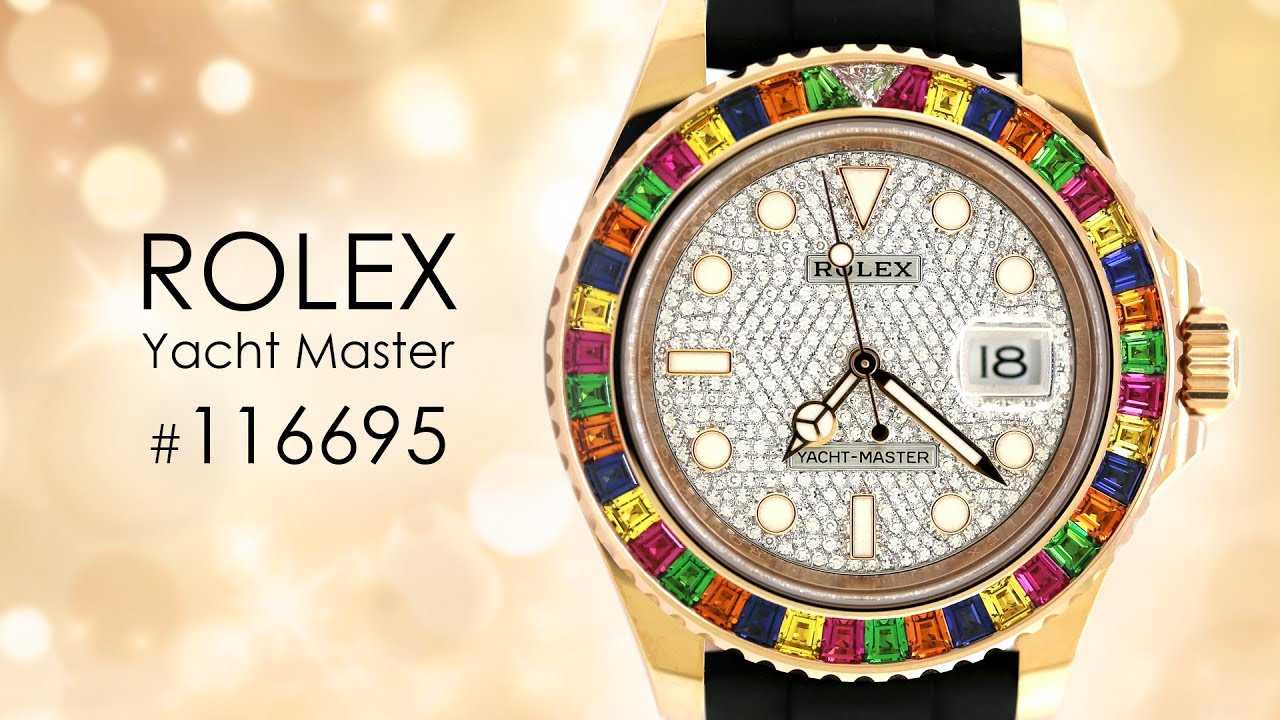 67341b09fb6 Rolex Oyster Perpetual Yacht-Master 40mm With Gem-Set Bezel 116695 SATS  Watch ...