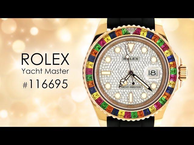 Rolex Oyster Perpetual Yacht-Master 40mm With Gem-Set Bezel 116695 SATS Watch (Tutti Frutti)