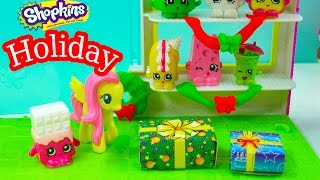 MLP Shopkins Christmas Holiday Season My Little Pony Fluttershy Creamy Bun Bun Playset Store Toy