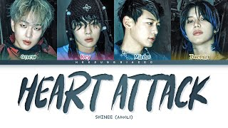 SHINee Heart Attack Lyrics (샤이니 Heart Attack 가사) [Color Coded Lyrics Han/Rom/Eng]