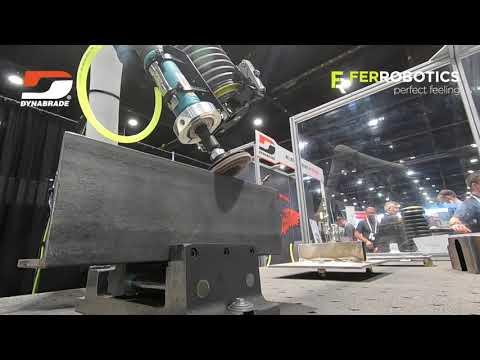 Active Compliant Cobot Tool - FerRobotics ACF-K + Dynabrade - perfect surface treatment