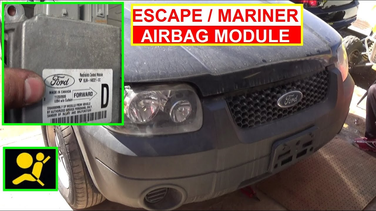 Ford Escape Airbag Module Removal And Replacement How To