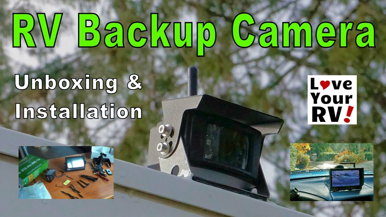 Installing a TadiBrothers Wireless RV Back Up Camera  YouTube