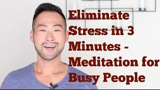 Wellness 101: Eliminate Stress and Anxiety In 3 Minutes - Meditation For Busy People