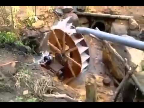 Free Water Free Electricity just set up Water turbine