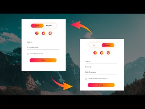 How To Make Login & Registration Form Using HTML And CSS Step By Step