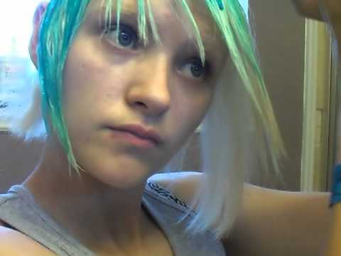 getting ready for scene hair again cotton candy style p