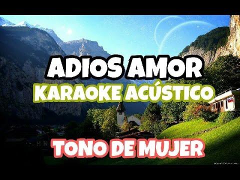 ADIOS AMOR -Christian Nodal KARAOKE ACUSTICO PIANO ( CAROLINA ROSS )