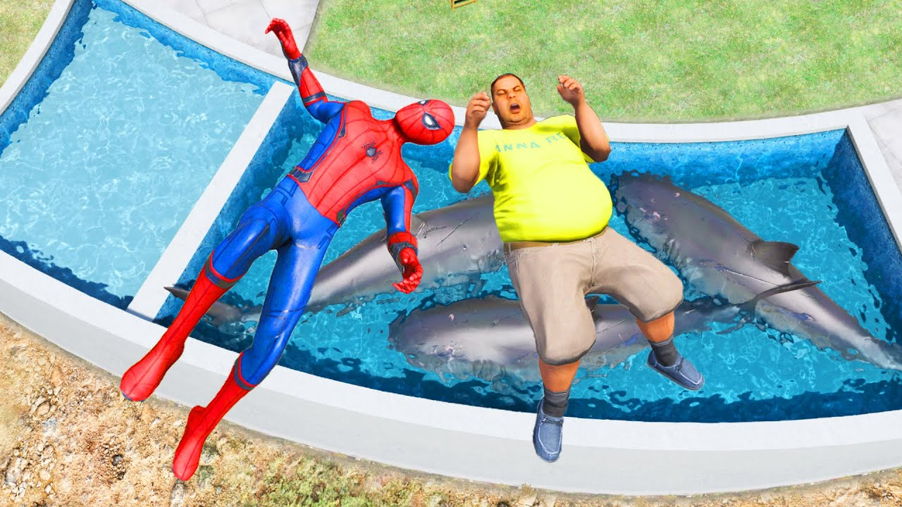 Epic Spiderman Ragdolls #106 - GTA 5 - Water Ragdolls