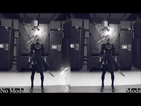 THE PATCH IS HERE. NO SPOILERS. Nier Automata PC Patch quick comparison