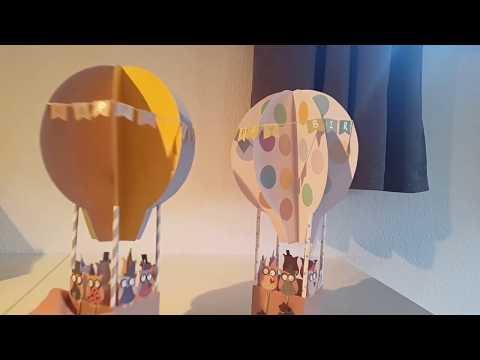 Tutorial DIY Geburtstagsgeschenk #Heißluftballon