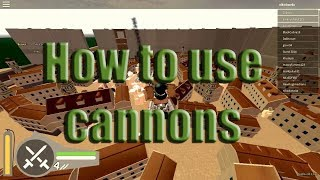 Attack On Titan: Downfall [Roblox] - How to Use Cannons