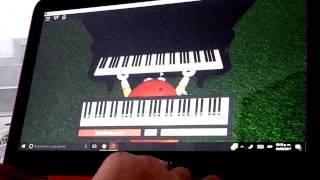 2 canciones en Roblox piano!!!