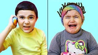 Celina want to play Toys with Hasouna - سيلينا تريد الالعاب من حسونة