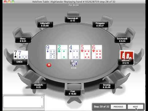 Bluff Catching W 77 Vs Fish, 25 Nl Hold Em Poker, Free Training Online