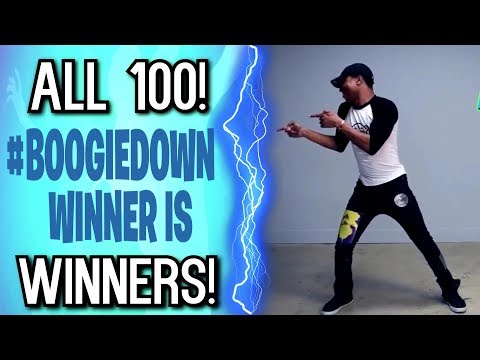 ALL 100 BOOGIEDOWN CONTEST WINNERS! (Fortnite Dance Compilation)