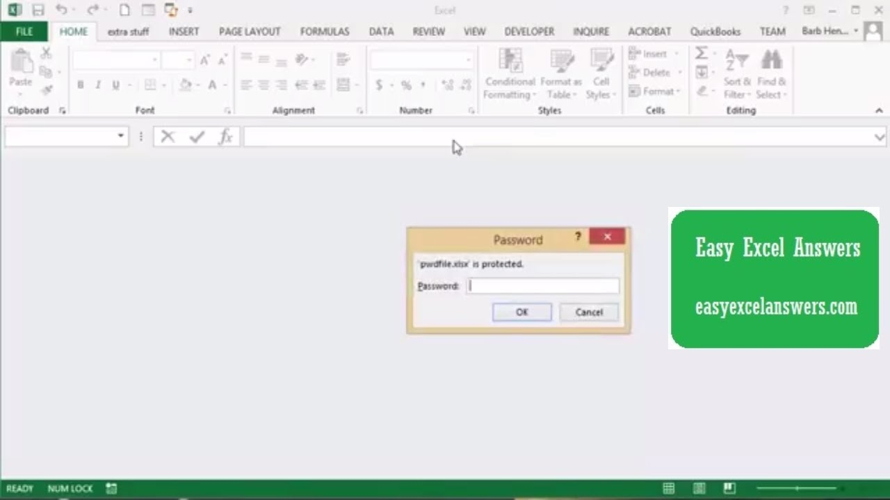how to open password protected excel file free