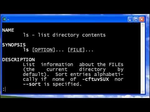 UNIX Man (help command)