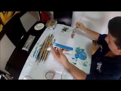 Como pintar cuadros en oleo facil y rapido youtube - Como pintar un cuadro moderno ...