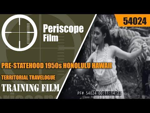PRE-STATEHOOD 1950s HONOLULU HAWAII TERRITORIAL TRAVELOGUE 54024