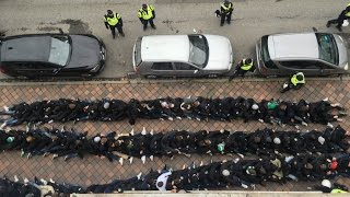 Malmo FF - Hammarby IF Clash with police and tifo