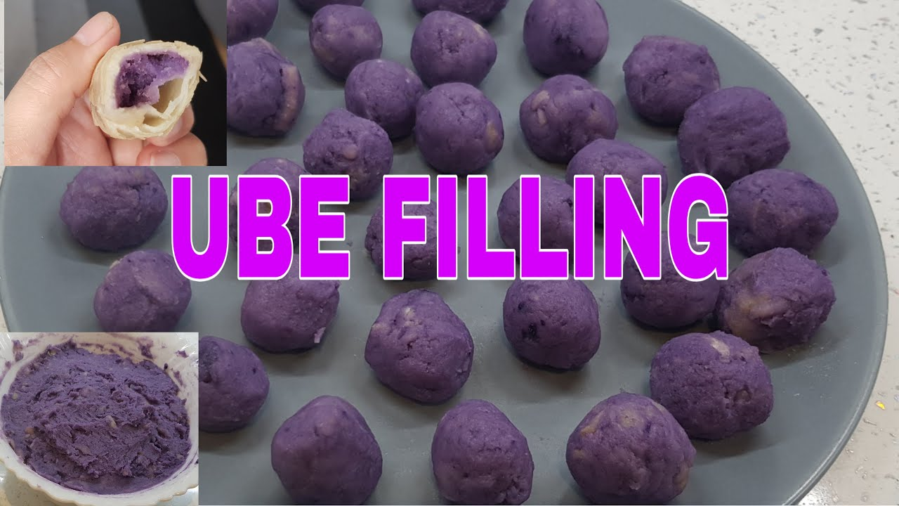 Ube Filling using potatoes as substitute