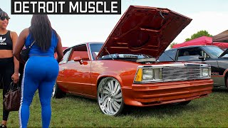 DETROIT MUSCLE !  FASTEST Donks & Gbodys @ Battle of the States 2 Grudge Race - Milan, Michigan