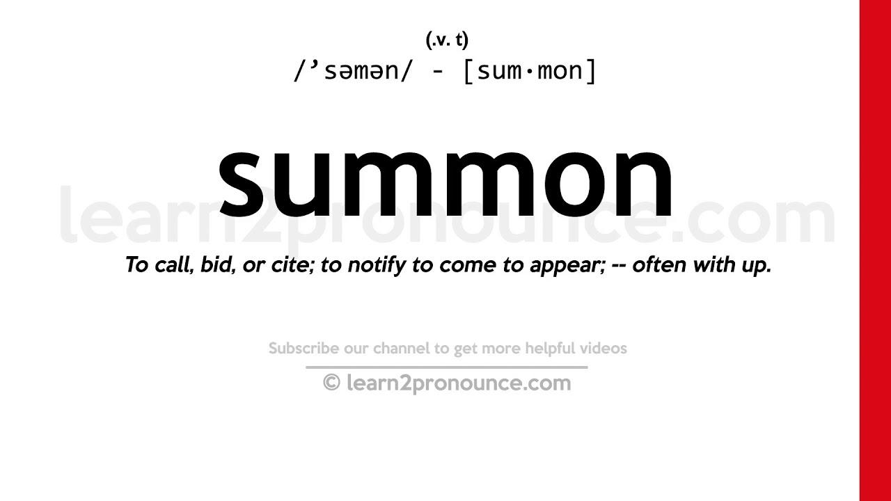 How to pronounce Summon  English pronunciation