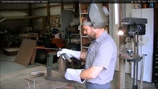 Learn how to weld watch thru the welders lens. Tutorial.(Easy Tutorial. I explain how to weld and what rod to use. I show simple techniques and we video it thru a #10 welding lens so you can see what the welder sees., 2011-12-15T20:05:16.000Z)