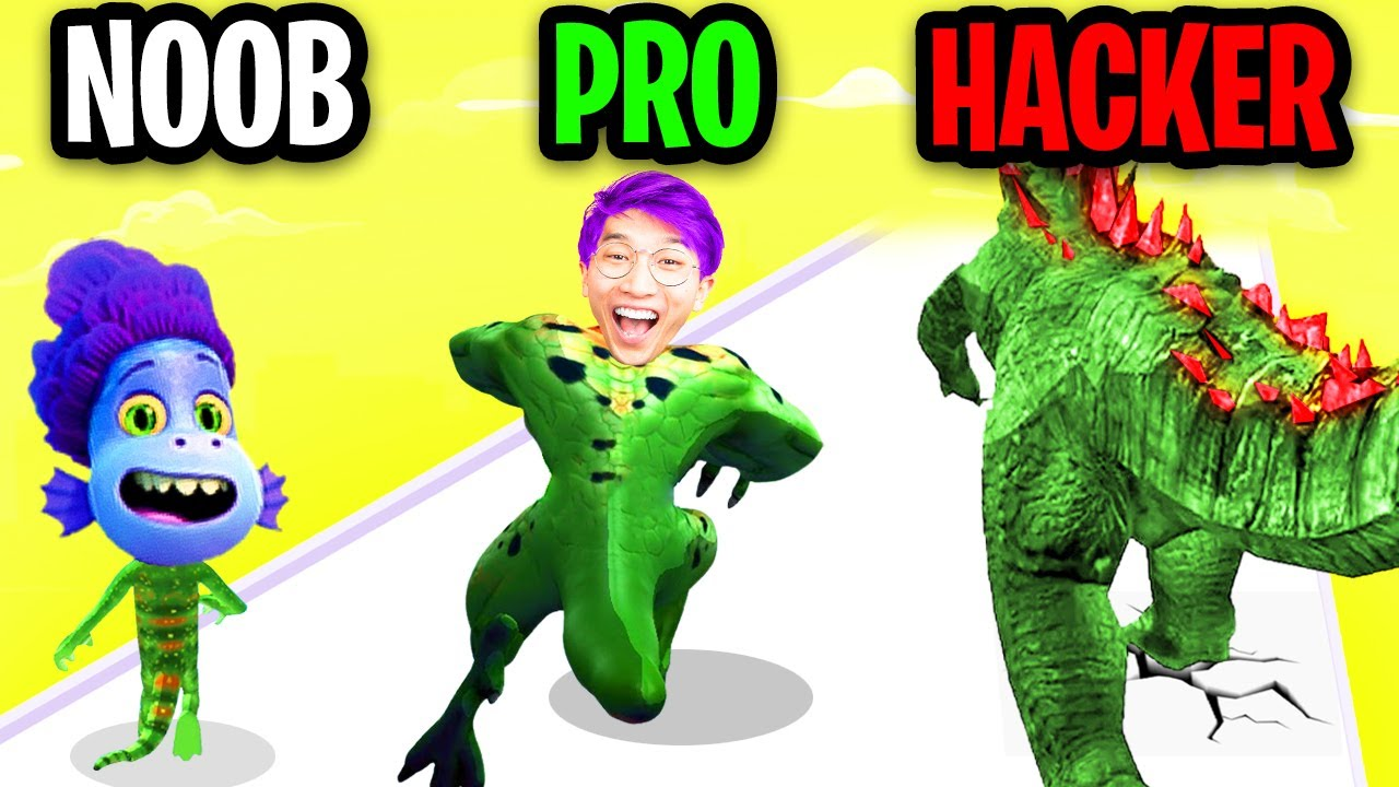 NOOB vs PRO vs HACKER In KAIJU RUN!? (NEW MAX LEVEL MONSTERS UNLOCKED!)