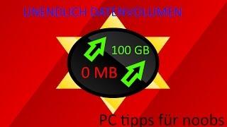 DATENVOLUMEN MEGA VERGRÖßERN!!! VON 0MB ZU MEHR ALS 100GB!!! KOSTENLOS!!! | PC tipps für noobs