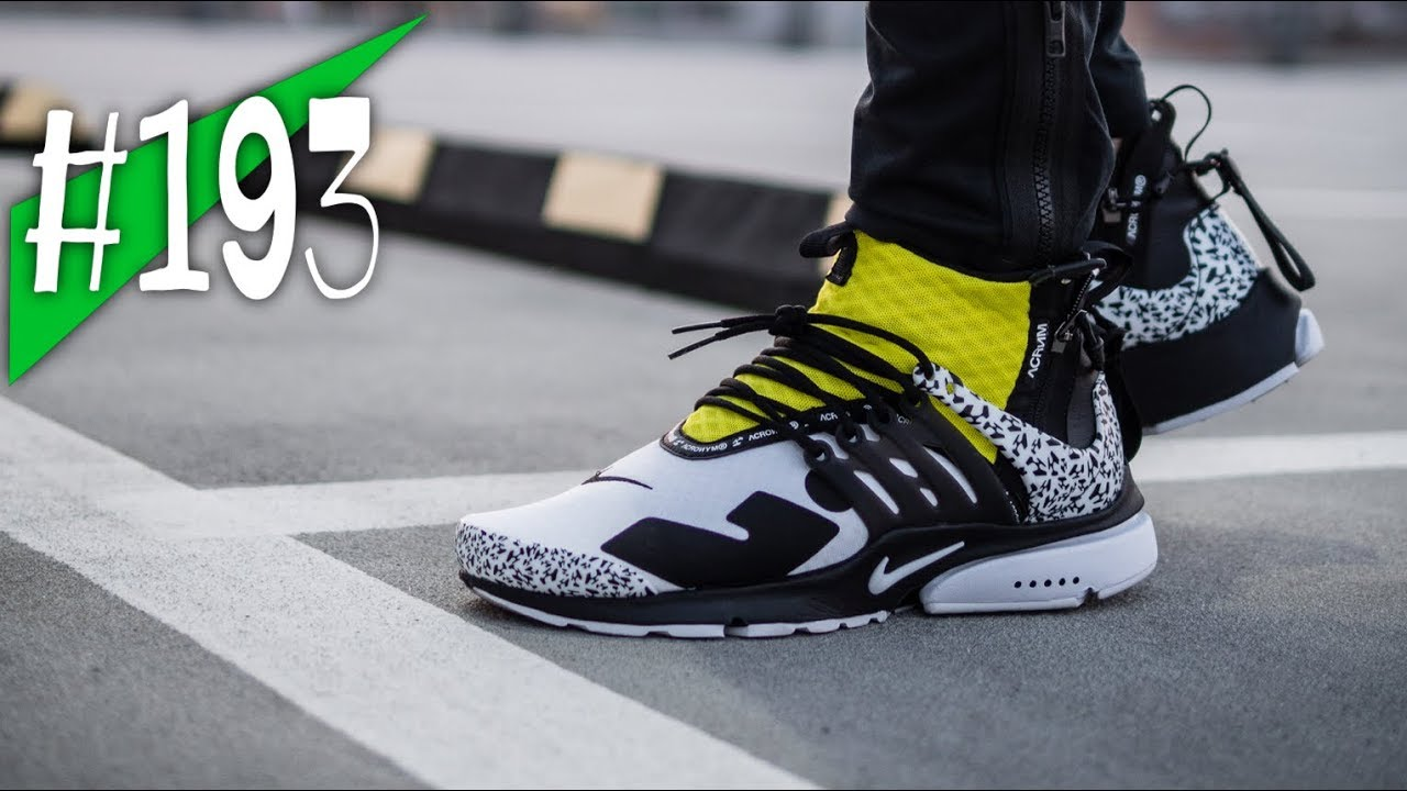 huge selection of f8427 6336f  193 - ACRONYM x NIKE AIR PRESTO MID UTILITY (dynamic yellow) - Review on  feet - sneakerkult
