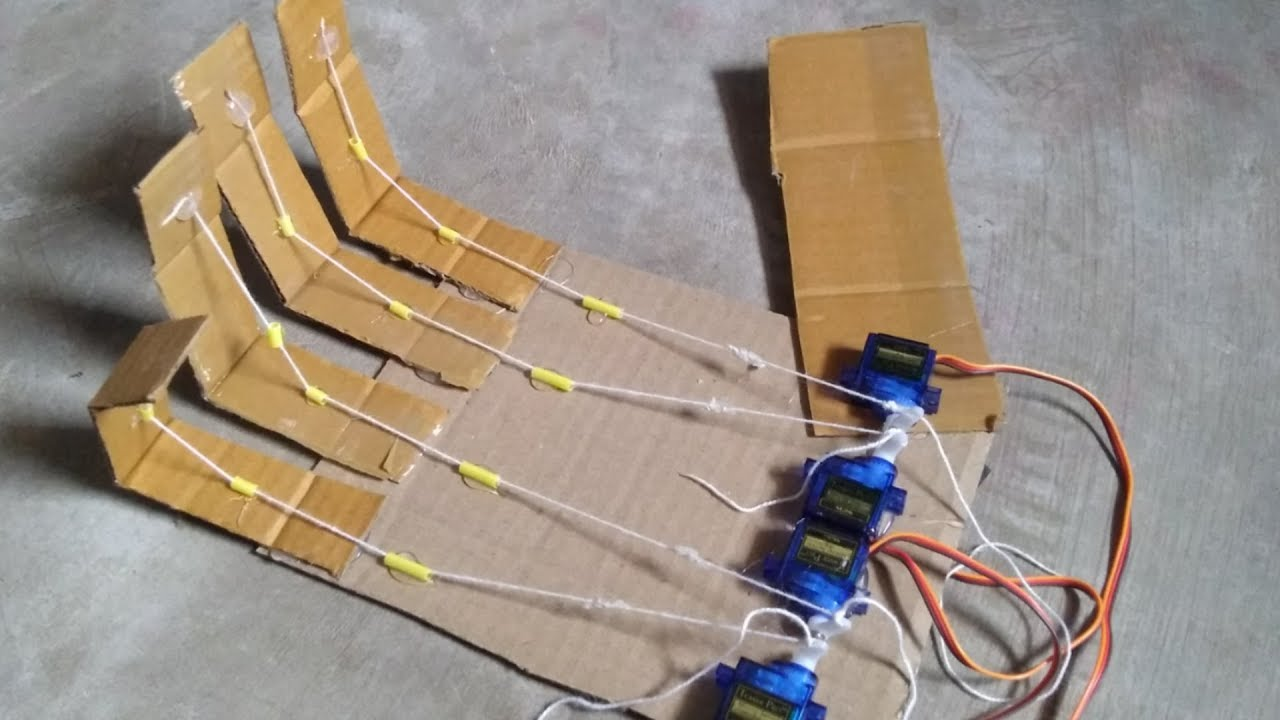 How to make low cost robot hand with wireless control