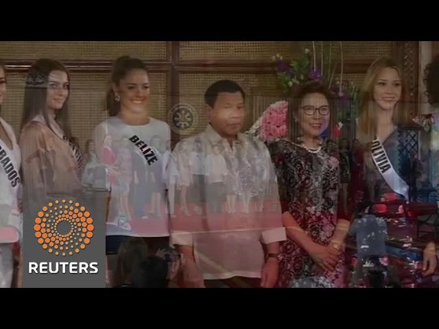 Miss Universe candidates visit Duterte