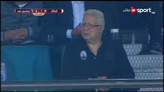 ردود أفعال مرتضى منصور في مباراة الزمالك وجينراسيون